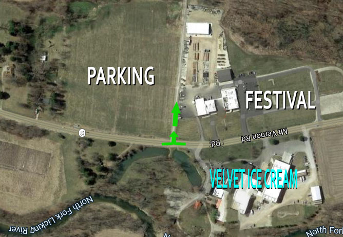 Parking Map Sertoma Ice Cream Festival Utica Ohio